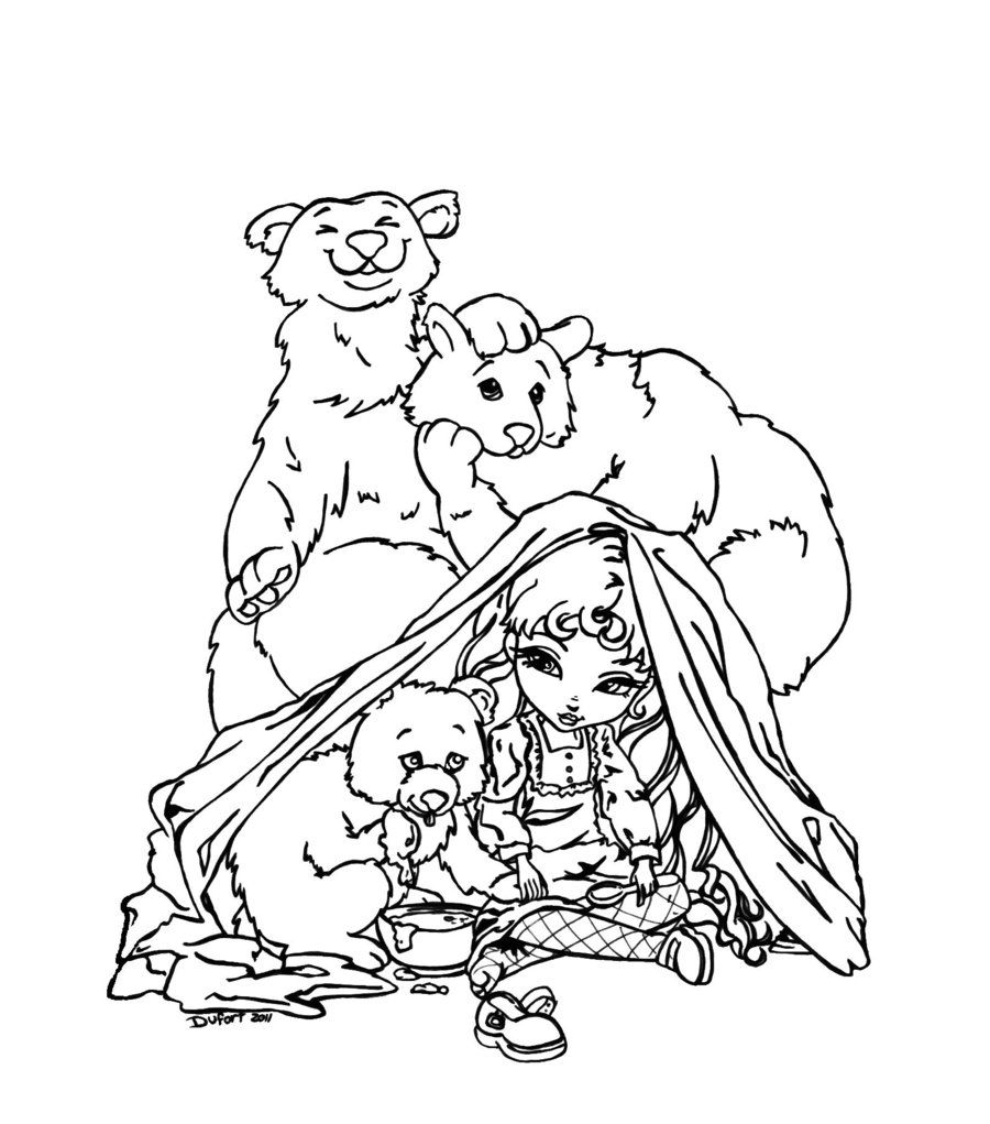 Colouring pages goldilocks and three bears - Goldilocks And The Three Bears By Jadedragonne Deviantart Com On Deviantart