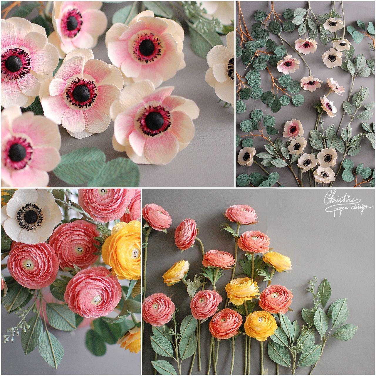 Christine Paper Design Paper Ranunculus And Anemone Crepe Paper