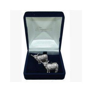 Cow pewter cufflinks