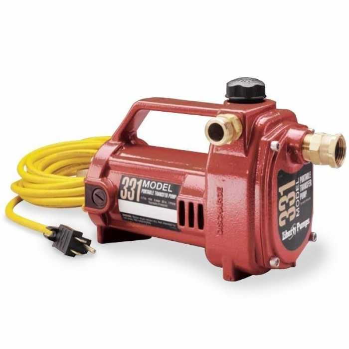 Liberty Pumps 331 1 2 Hp Portable Utility Pump 115v 20 Cord Pumps Plumbing Pumps Livestock Tank