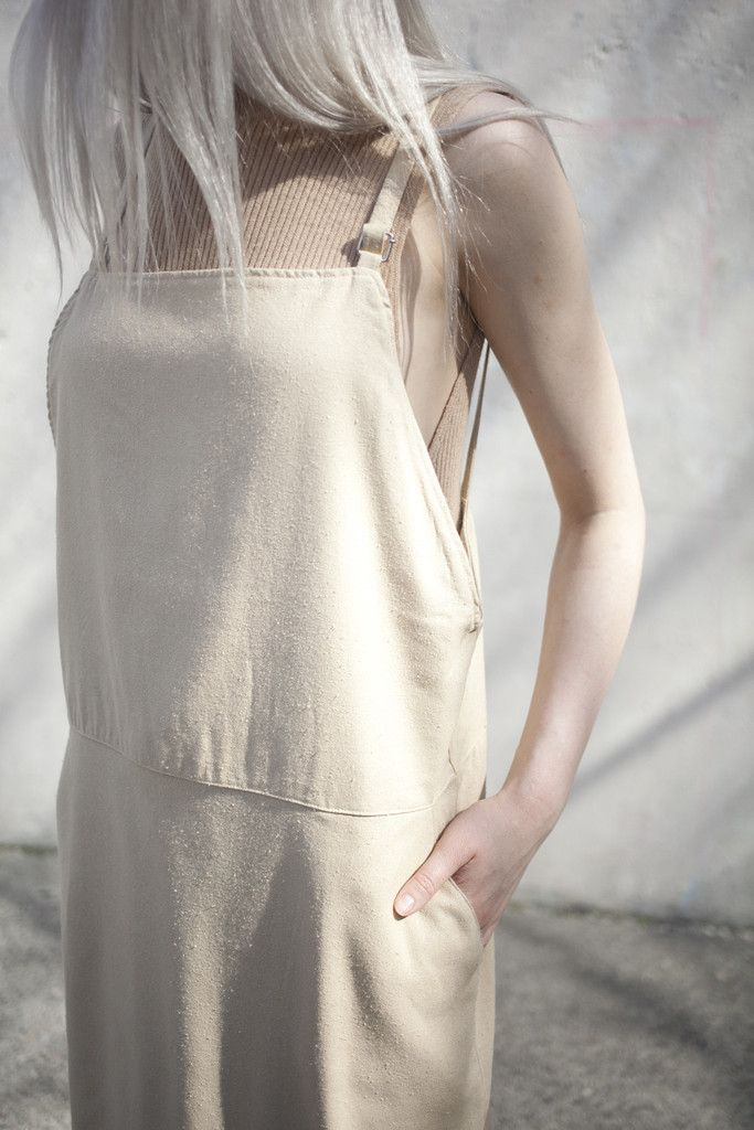 6946ce1e265 Base Range Overall Dress in Sand