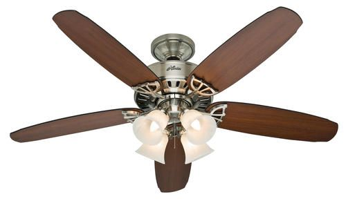 Nickel Hunter Fan Company 54101 Durant Indoor 54 Inch Ceiling Fan with 1 Light