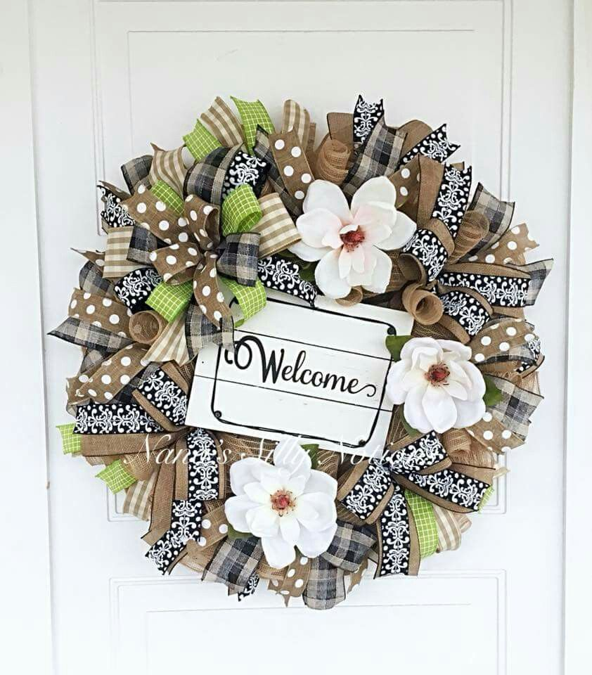 Summer Deco Mesh Wreath | Wreaths All Occasions Deco Mesh ...