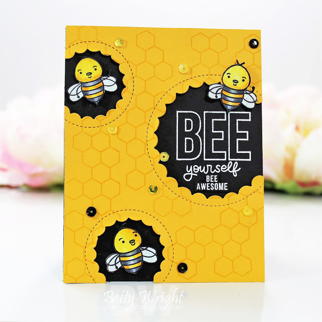 BEE Yourself! | The Things I Do With Paper Simon Says Stamp card kit #cardkit