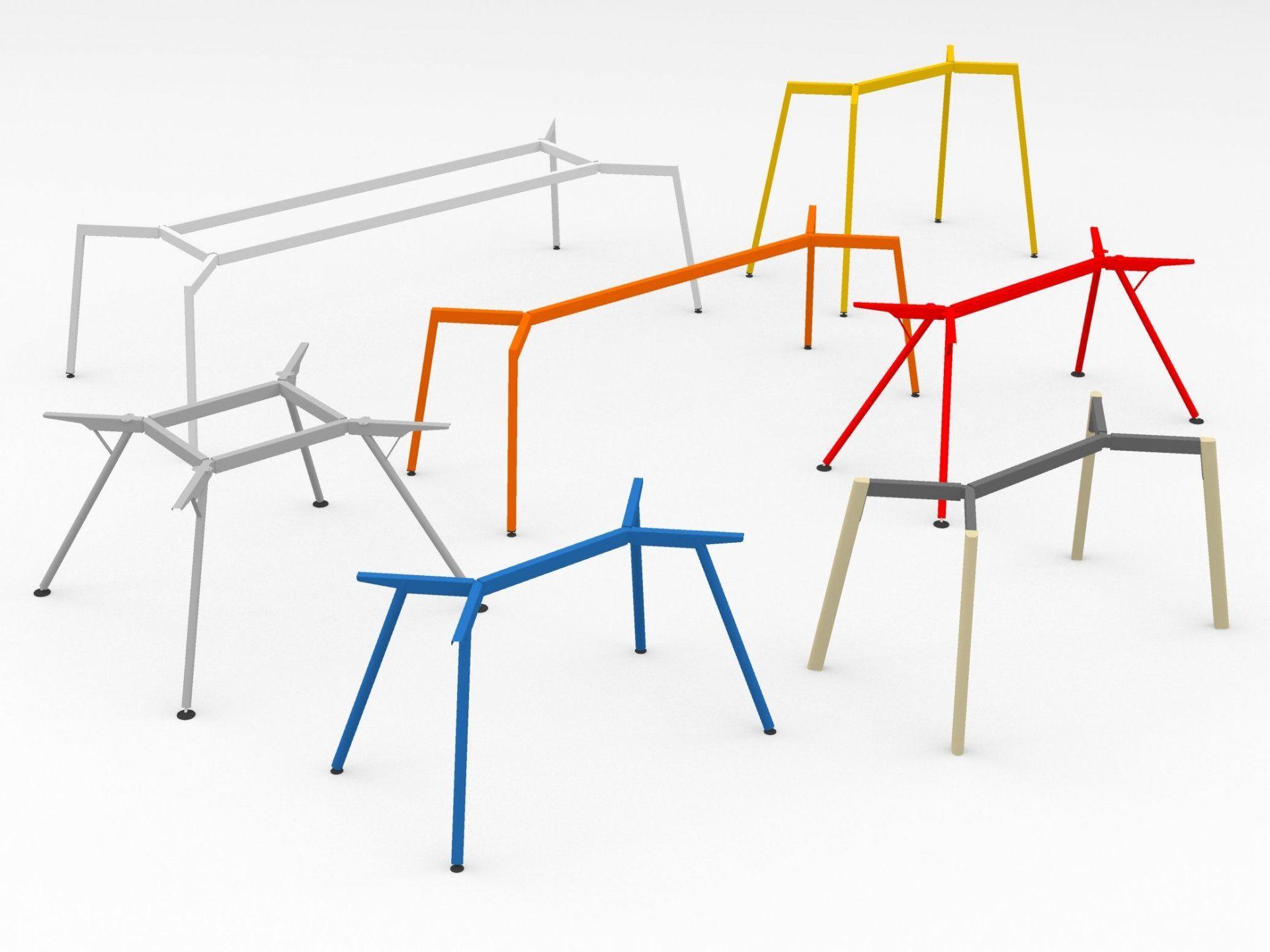 Modulor Tisch System Y2 farbig Work life Balance