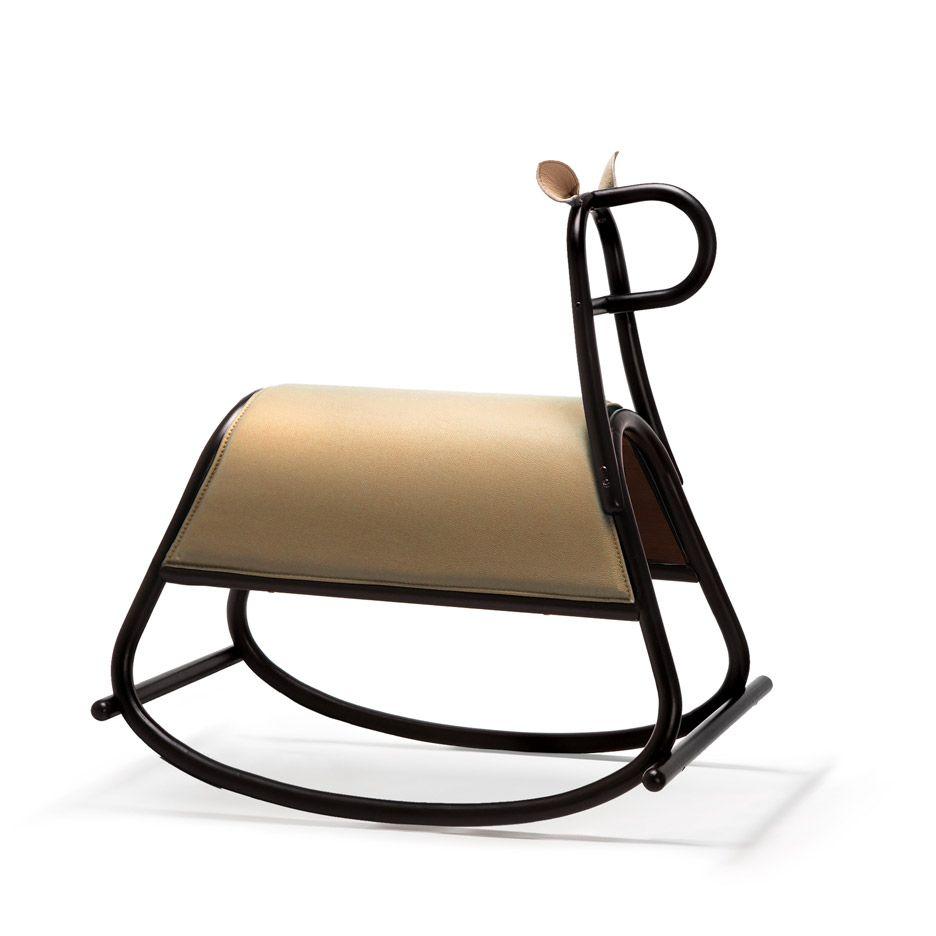 Furia Rocking Horse By Front, Designed For Gebruder Thonet Viennau0027s Milan  2016 Show