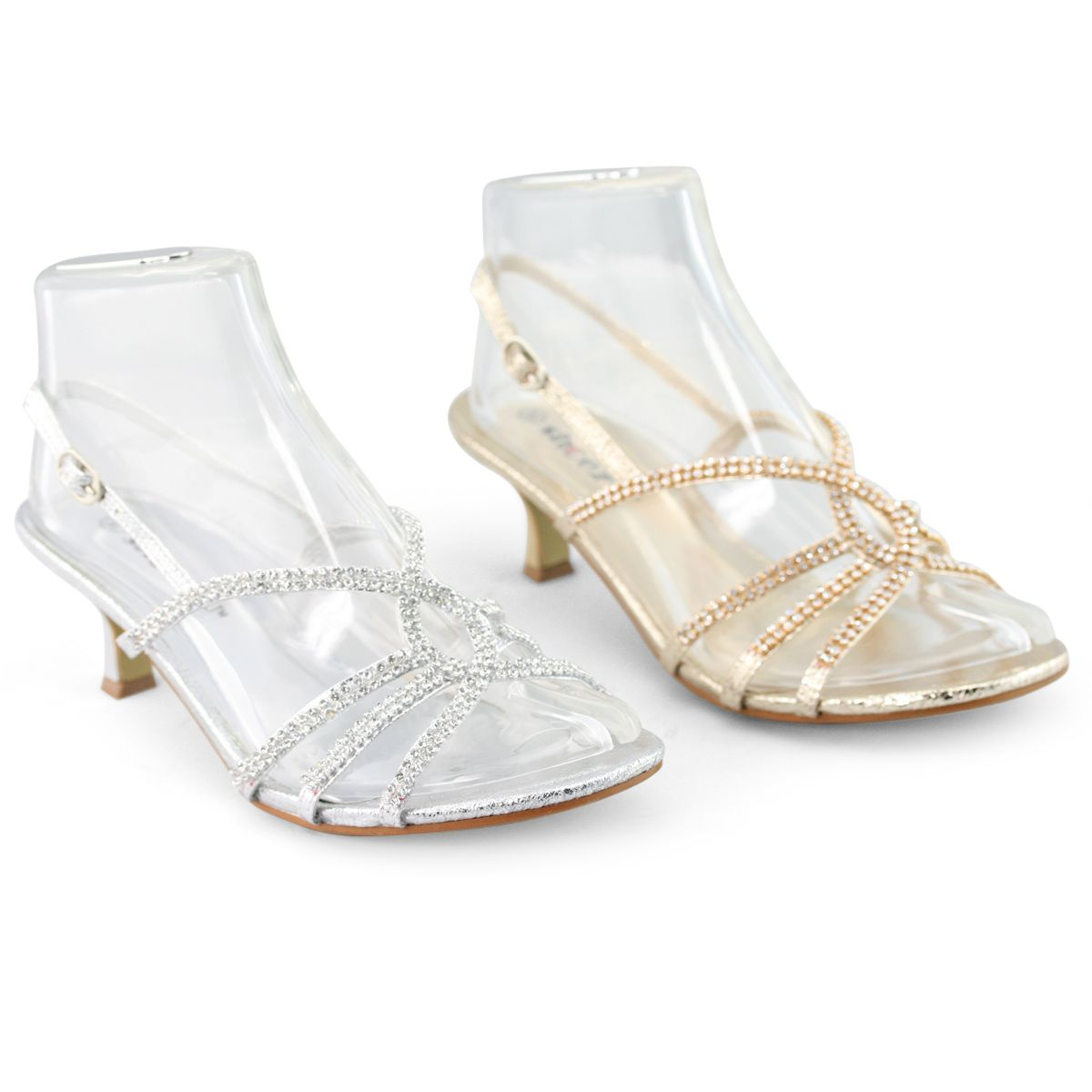 Silver Low Heel Dress Shoes Colours And Gold Perfect For Wedding Evening Prom Party