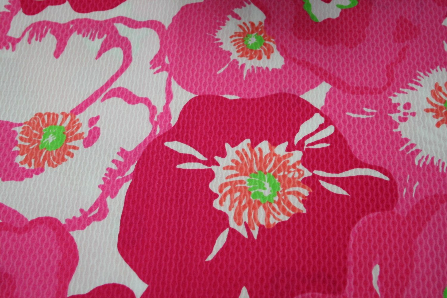 Lilly Pulitzer Hotty Pink Cherry Begonia Pique by WELOVELILLY ...