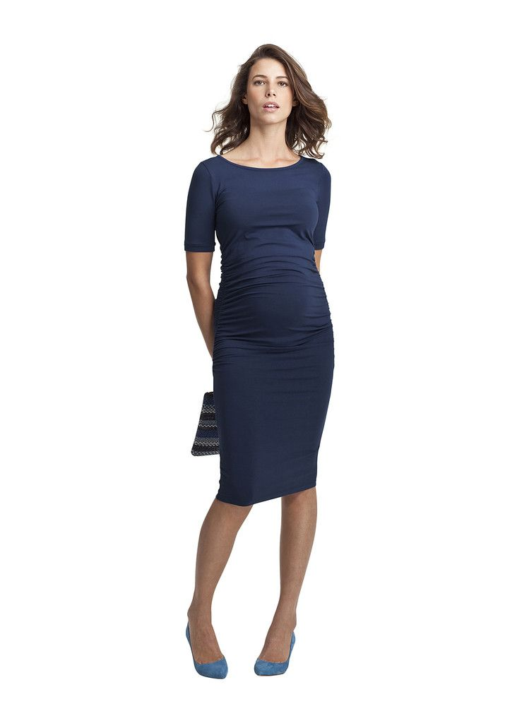 5e270d387b6f3 Isabella Oliver Ruched T-Shirt Maternity Dress | Bump Style ...