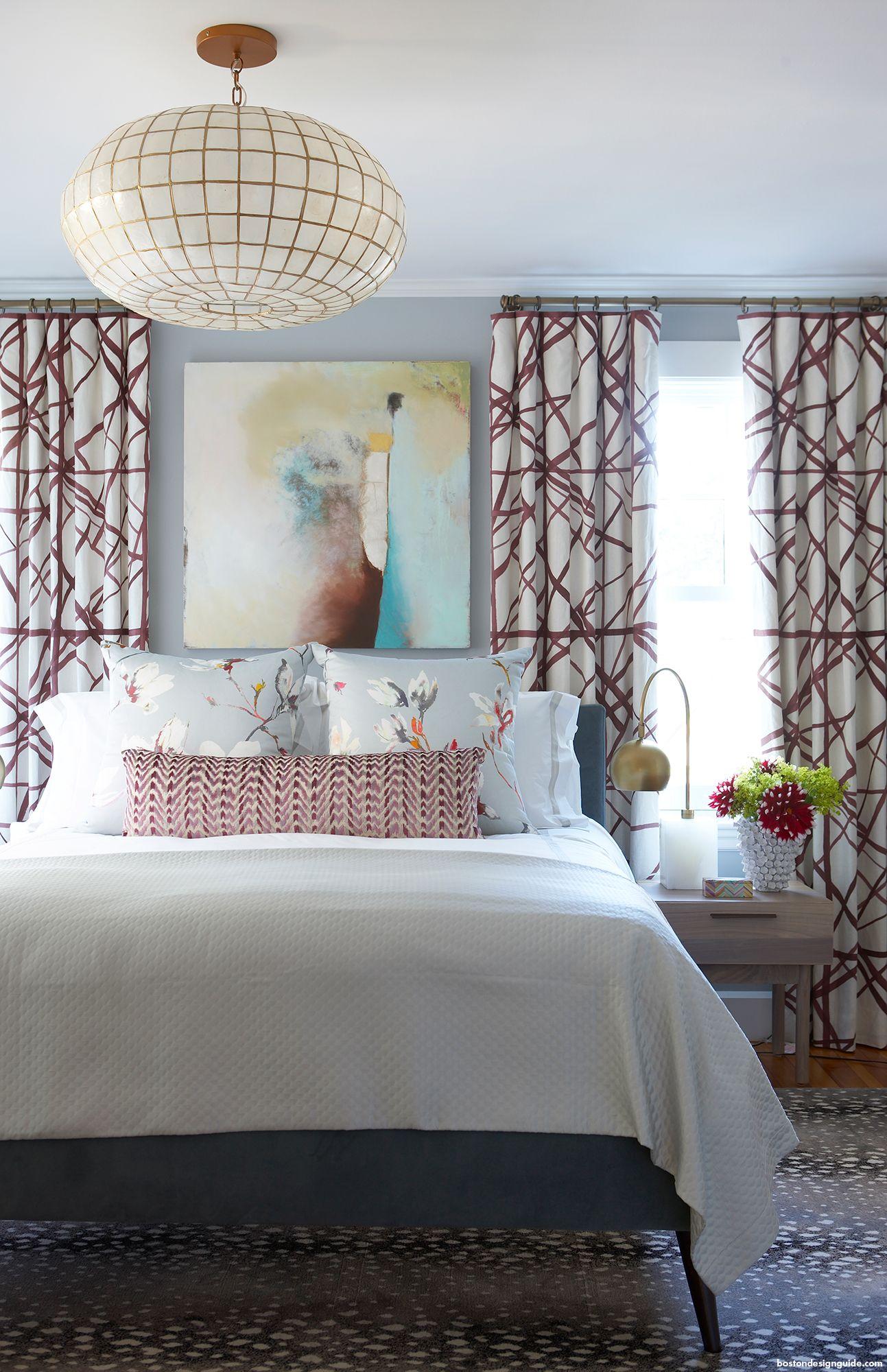 Bedroom sophistication PANTONE Tawny Port Interior Design by