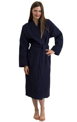 TowelSelections Waffle Bathrobe - 100% Turkish Cotton Robe for Women and Men, Made in Turkey, Navy TowelSelections, http://www.amazon.com/dp/B008L56A3M/ref=cm_sw_r_pi_dp_KDaNqb05YH2ER