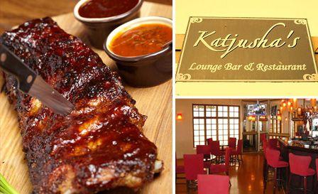 Enjoy 500g Bbq Pork Ribs Or 250g Rump Steak With Sides Dessert For 2 For R125 At Katjusha S Lounge Bar Restaurant Bryanston H Bbq Pork Ribs Food Pork Ribs