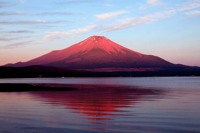 赤富士 どうしたんだろう 照れてるの 赤富士 富士山 富士山 画像