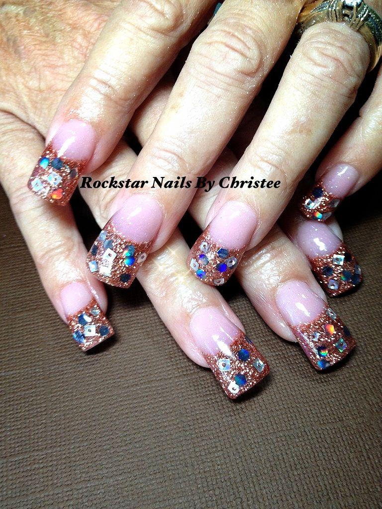 #rockstar nails christee #acrylic