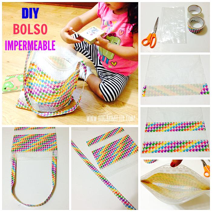 Hogar mujer como hacer un bolso impermeable con una bolsa - Manualidades para el hogar ...