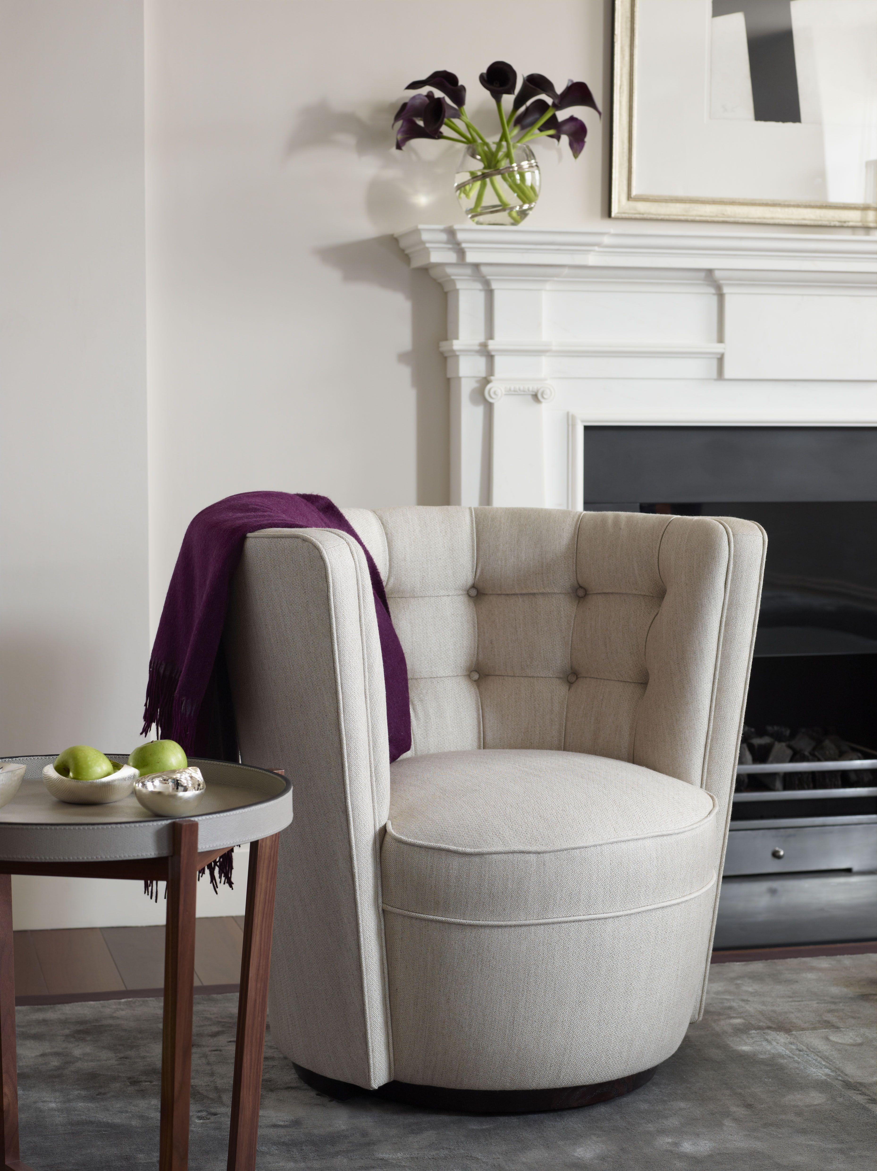 Deco Rotating Tub Chair Chairs Luxury LINLEY