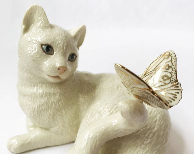 Lenox Enchantment Cat | Cat Lover Gifts | Vintage Cat Figurine ...