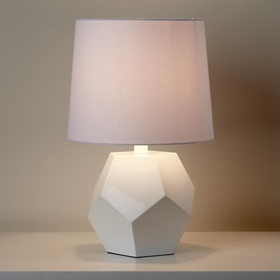 The Land Of Nod Kids Lighting White Geometric Lamp Base In All Lighting Rock Lamp Geometric Lamp Table Lamp Base