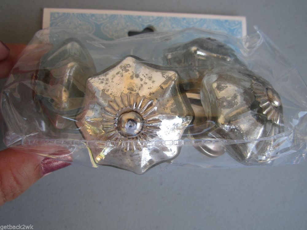 Awesome Mercury Glass Cabinet Knobs