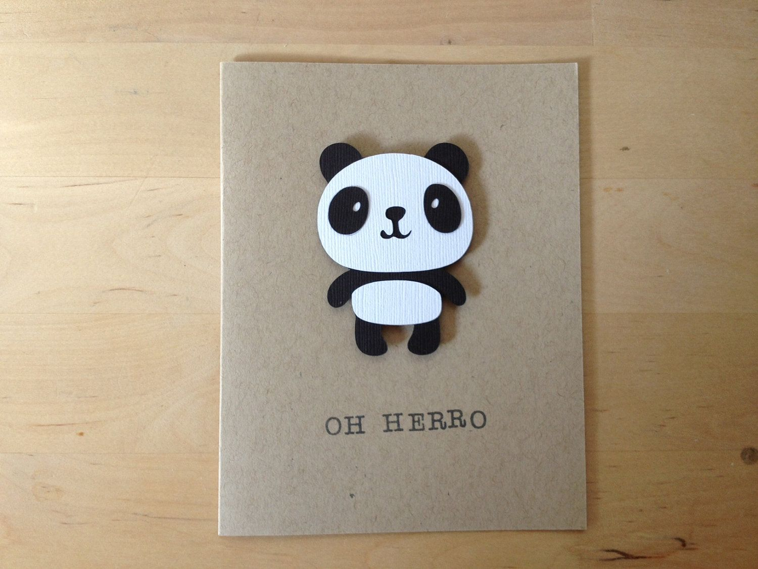 Oh Herro Panda Card Craft Ideas Pinterest Panda Cards And Craft