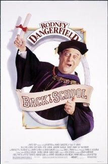"""Alan Metter's """"Back to School"""" (1986) features Rodney Dangerfield as an obnoxious dad trying to help his son through college. 02/12/2015, 2:00pm. FREE. www.clubfreetime.com - free things to do, free events to go to in New York City."""