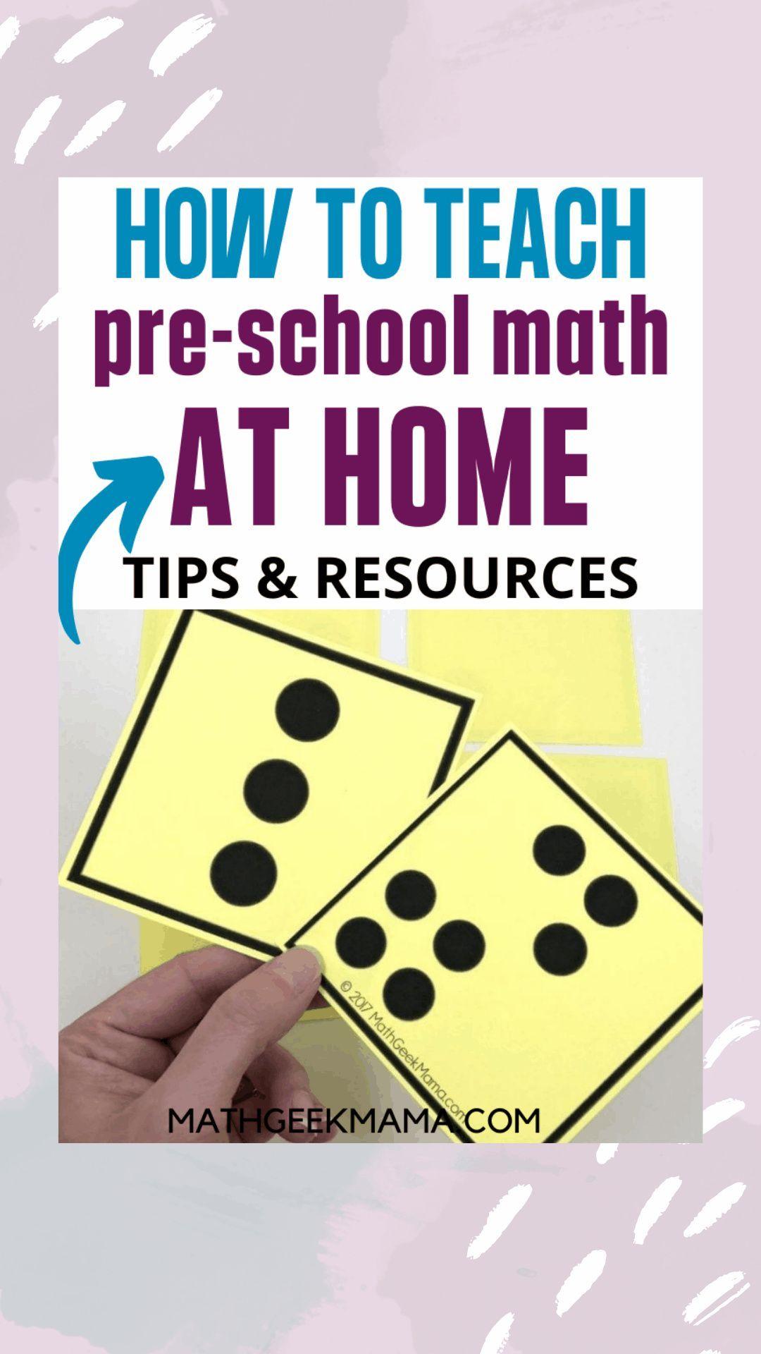 PreK Math Activities HUGE Resource List in 2020 Math