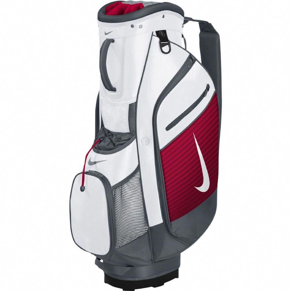Nike Golf 2015 Sport III Cart Trolley Golf Bag - White Silver University  Red Include One Dozen FREE Nike RZN Black Golf Balls  golfbags 755fee3f19