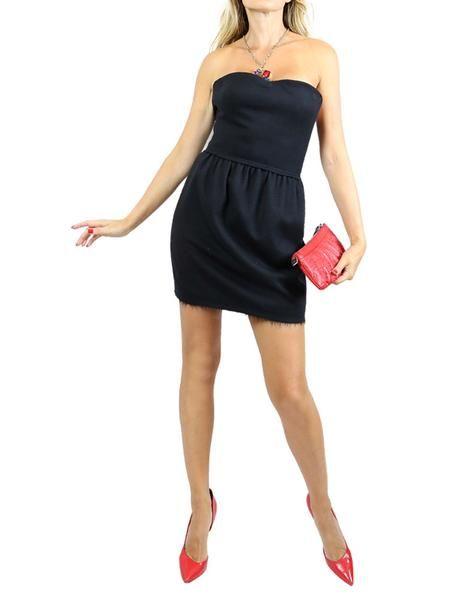 FENDI Black Strapless Cocktail Mini Dress. 36/XS $350 http://www.boutiqueon57.com/products/fendi-black-strapless-dress-36-xs