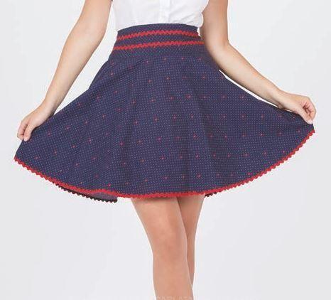 """Falda modelo Escarlata """"La Jaca"""""""