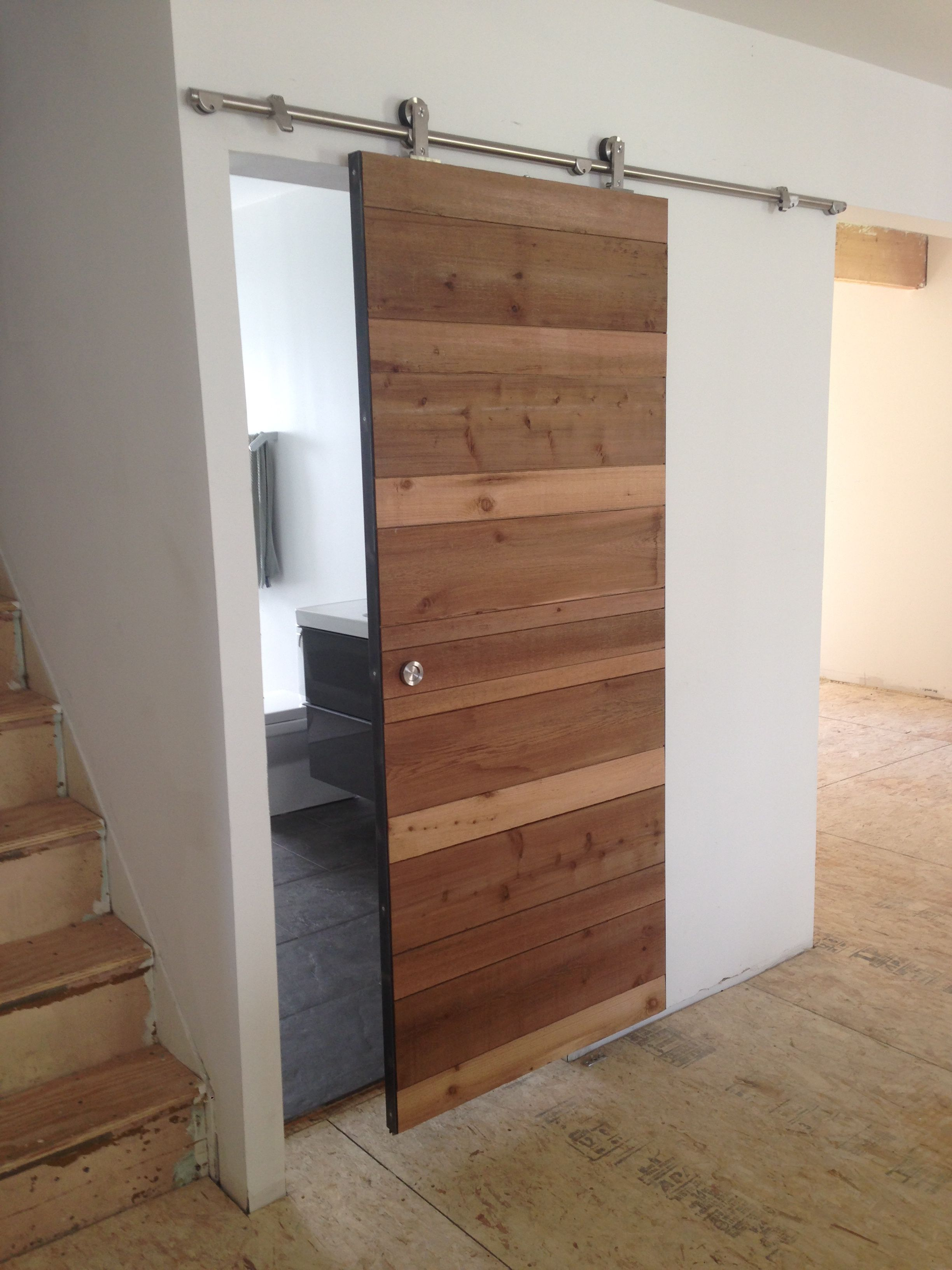 Single Post (With images) Diy bathroom, Sliding doors