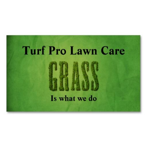 Lawn Care Landscaper Business Card Templates Lawn Care - Lawn care business cards templates free