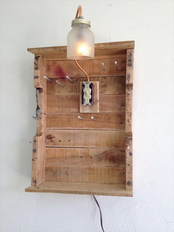 Pallet Jewelry Organizer Pallet Furniture Plans Garage workshop