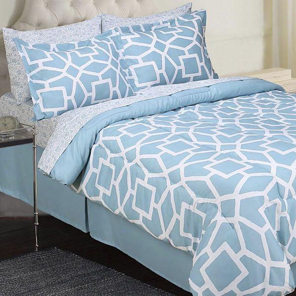 Jessica Mcclintock Barrett Geometric 8 Pc Complete Bedding Set
