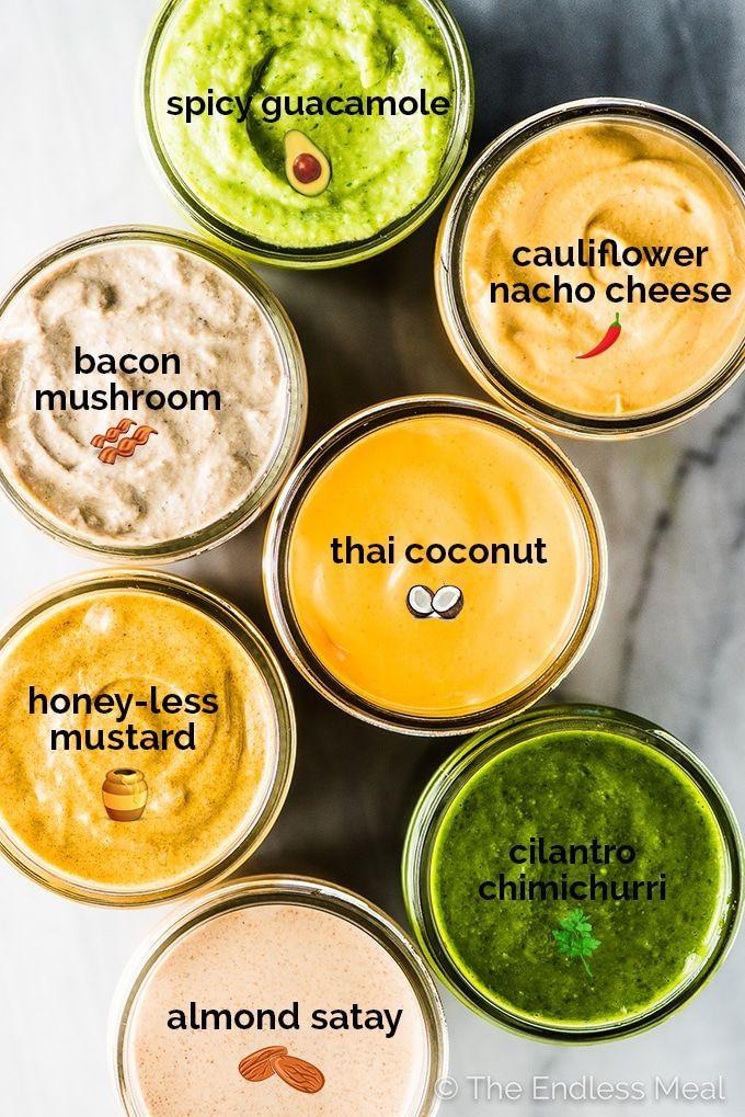 Photo of 7 Staple Whole30 Sauces (mayo-free/dairy-free)
