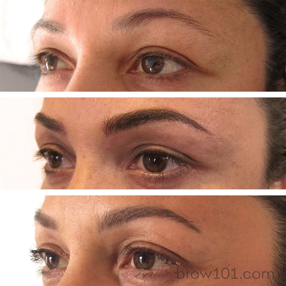 Before After And Healed Micro Blade Eyebrow Tattoo These Beautiful