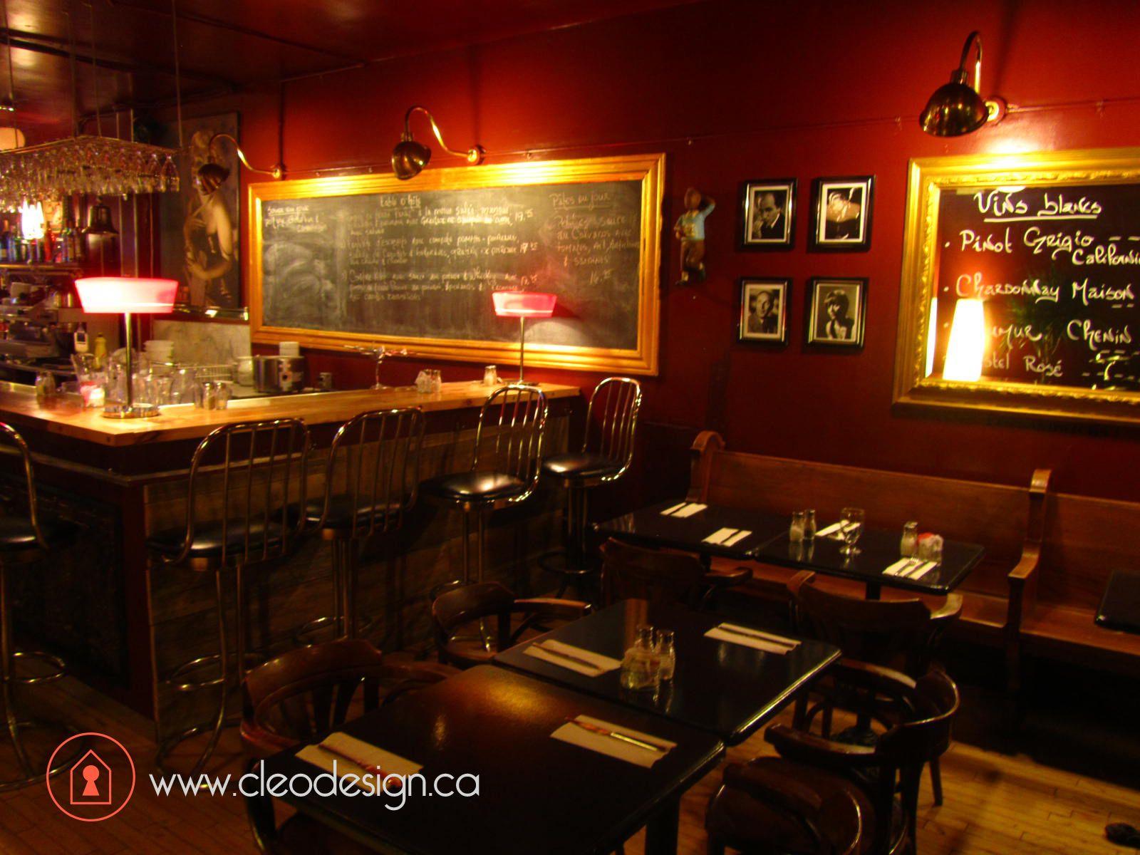 Restaurant les Tontons Flingueurs, Montréal, par Cléo design ...