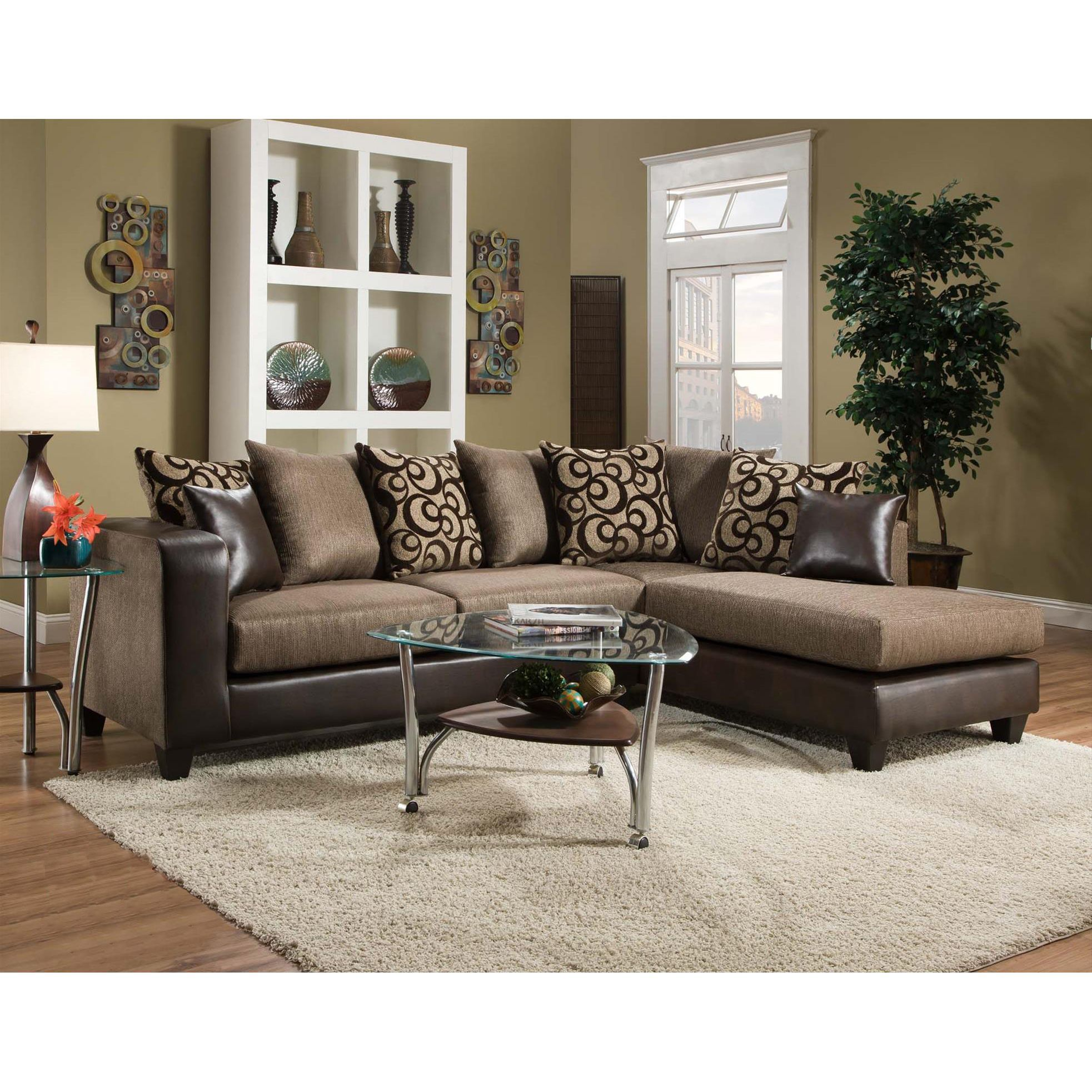 Sofa trendz oliver espresso sectional oliver sectional espresso brown fabric