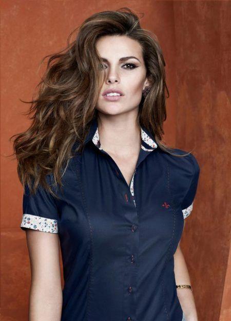 camisa-dudalina-manga-curta-com-barramento-das-mangas-e-gola-em ... c647897f66c25