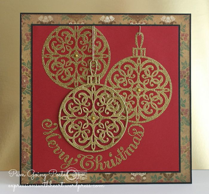 Pam Sparks Serendipity Ornament stamp and die set