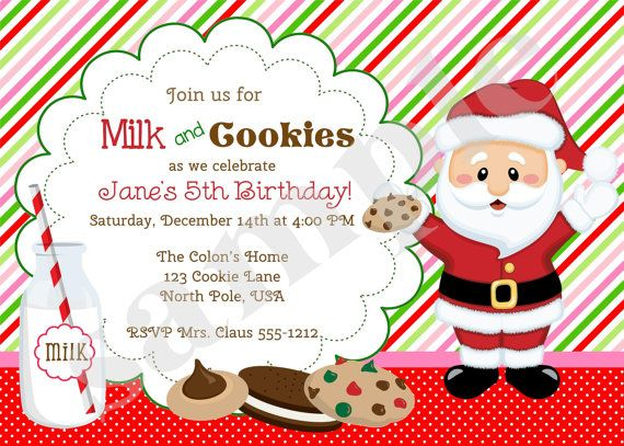 Milk And Cookies Invitation Invite Cookies And By Jcbabycakes