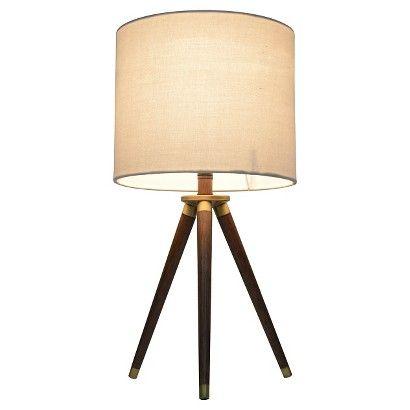 Small Brass Tripod Table Lamp