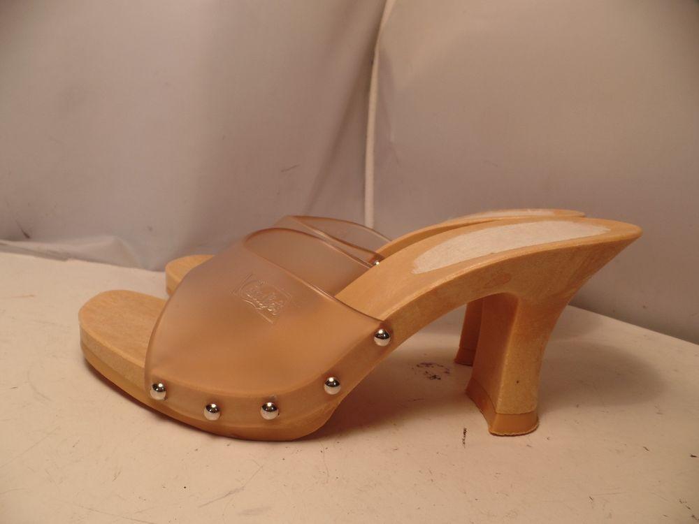 Vintage 80's Candies Original Sandals Clear High Heels Slides Sexy 8 / 39  Italy #Candies - Vintage 80's Candies Original Sandals Clear High Heels Slides Sexy