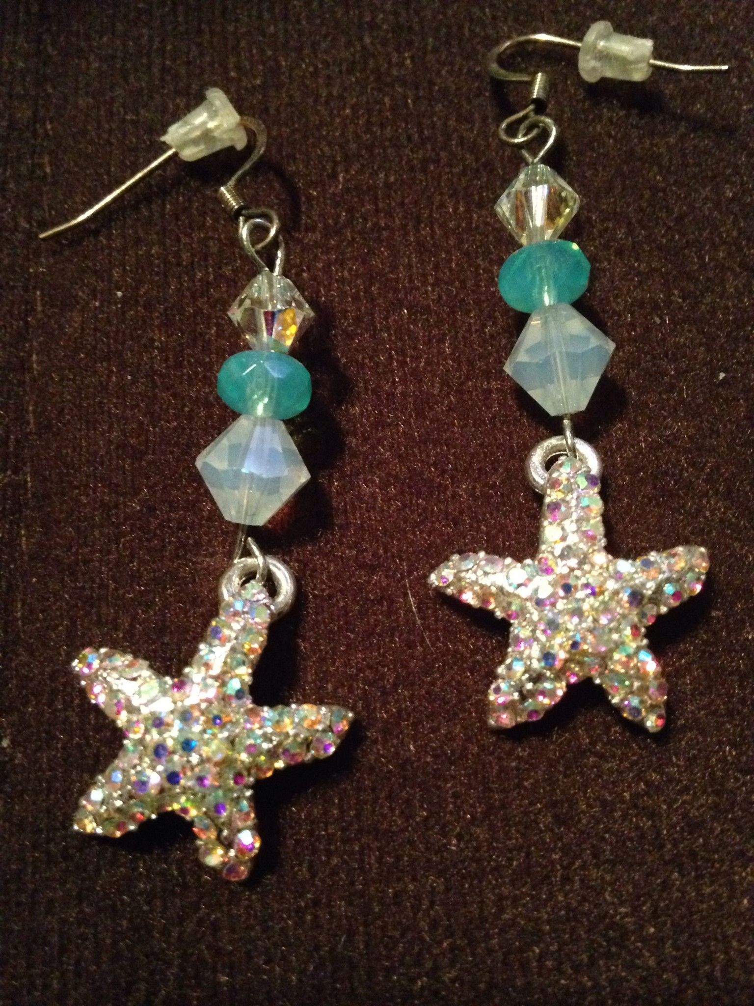 Swarovski Crystal Sparkle Starfish Earrings