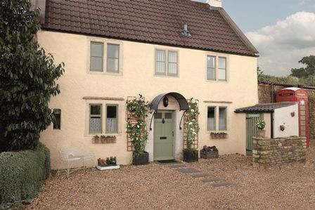Use Weathershield Smooth Masonry Paint In Jasmine White On The Walls And Exterior Satin Green Glade Doors Windows To Get