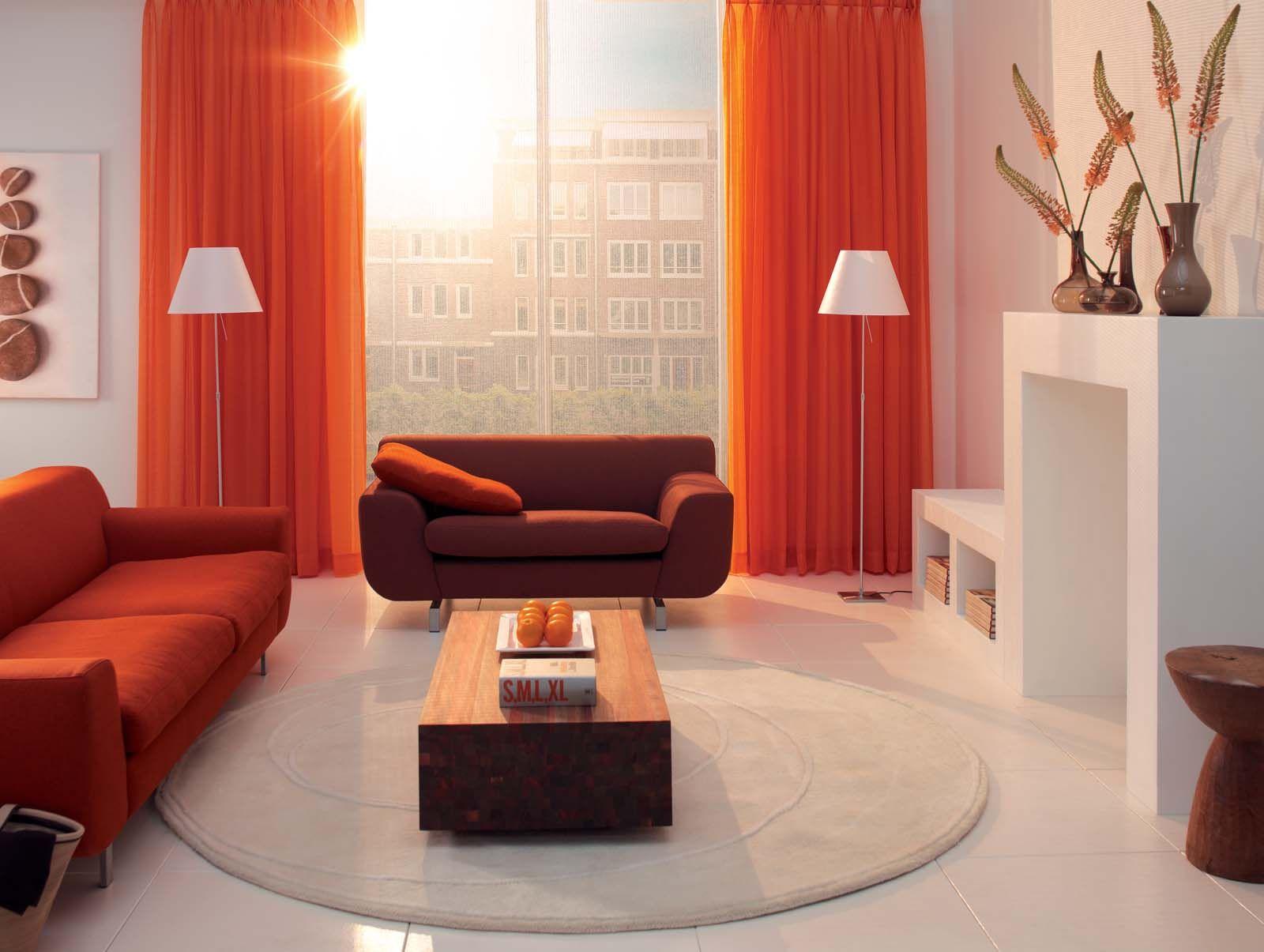 Gardisette - Oranje, grijs, bruin en wit...mooie combinatie | @home ...