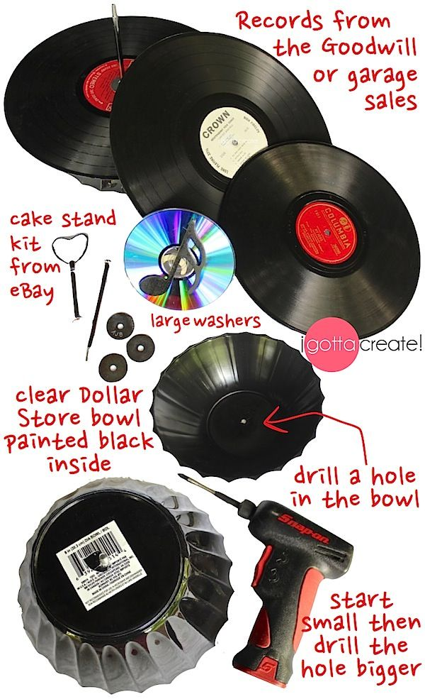 Vinyl Cupcake Stand How To Make A Vintage Record