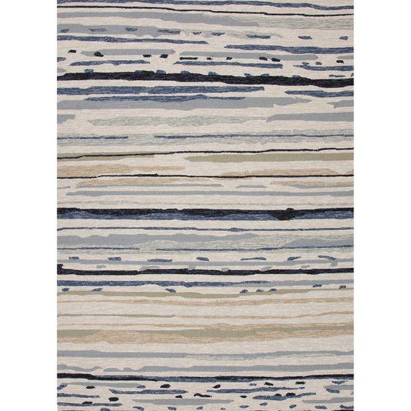 Hand-hooked indoor/outdoor area rug   Cape Cod Beacy