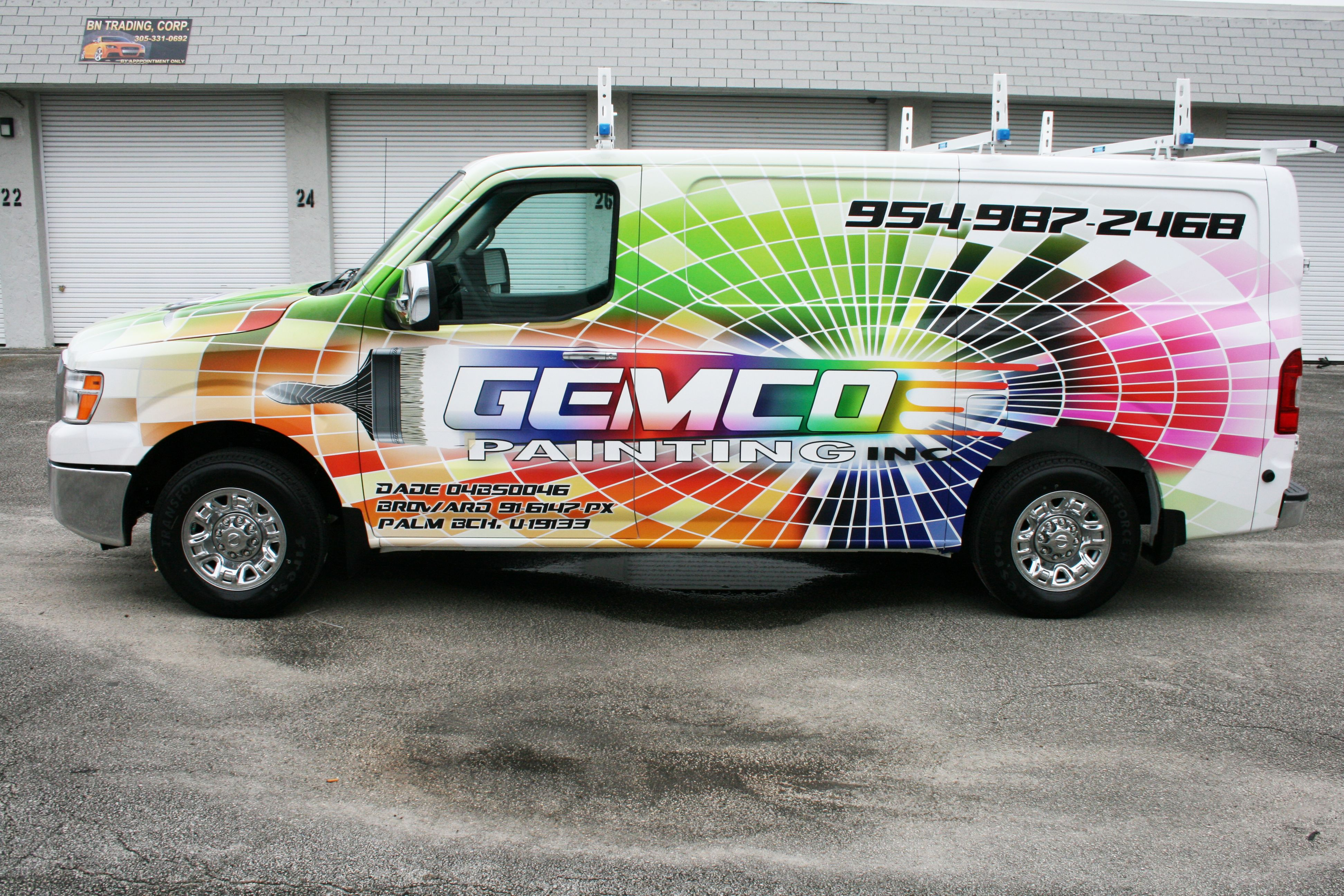 Comercial painting vehicle wrap for gemco painting in