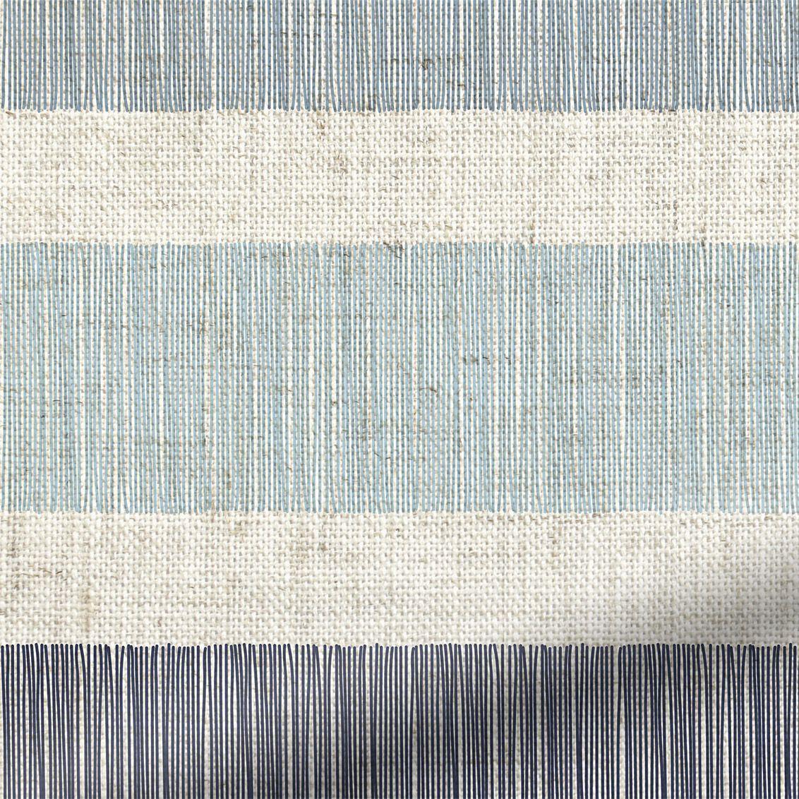 Choices cardigan stripe linen blue horizon roller blind striped