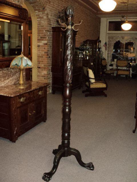 Antique Hall Tree Coat Rack Mahogany Paw Foot Coat Rack Hall Tree Fc606 Antique Hall Tree Tree Coat Rack Coat Tree